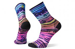 Smartwool PhD Ultra Light Watercolor Stripe Print Crew