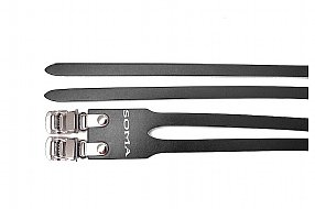 Soma Fabrications Double Leather Toe Strap Pair