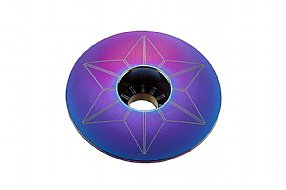 Supacaz Star Capz Headset Top Cap - Oil Slick Finish