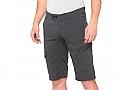 100% Mens Ridecamp Shorts Charcoal