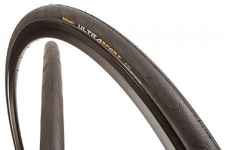 Continental Ultra Sport 2 Clincher Tyre 700C x 25C Black Wire Bead Entry Level