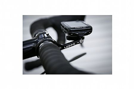 Black Lezyne GPS Out Front Mount