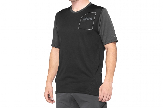 100% Mens Ridecamp Jersey Charcoal/Black