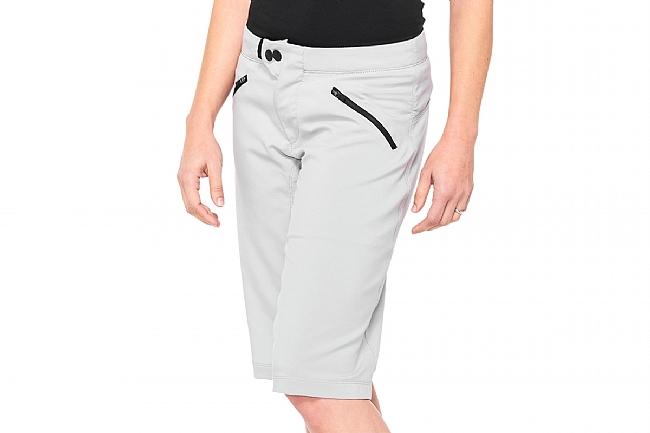 100% Womens Ridecamp Shorts Grey