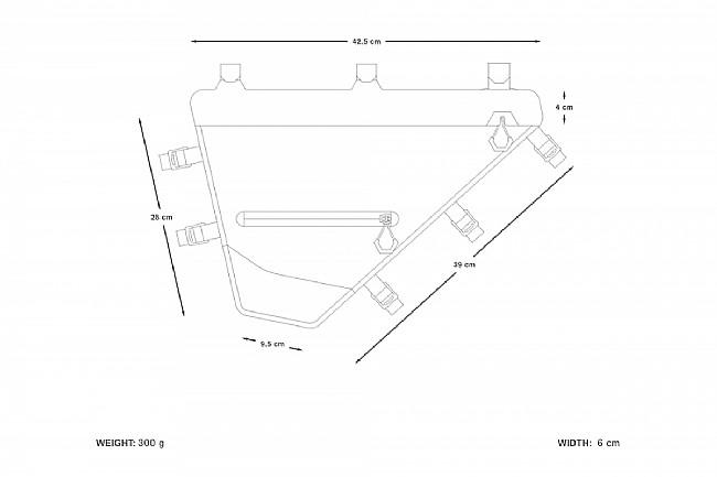 Apidura Expedition Full Frame Pack Grey/Black- XS 6L