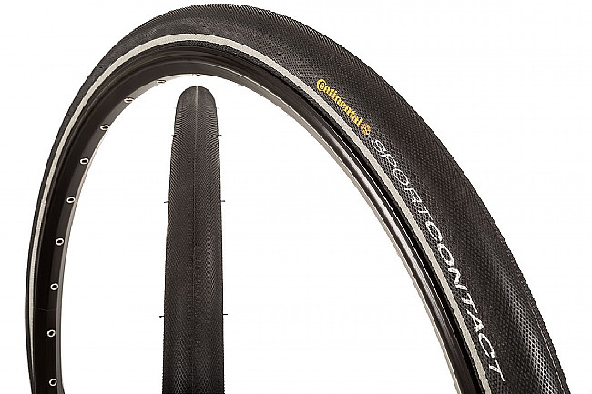 Continental Contact Speed Reflective Tire (26 Inch) Black/Reflex - 26 x 1.3 Inch