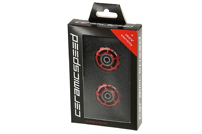 Ceramic Speed Shimano 11s Alloy Pulley Wheel Red