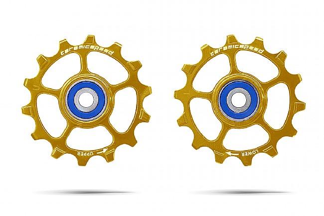 Ceramic Speed SRAM Eagle 1x12 Pulley wheels Pair 14T - Gold