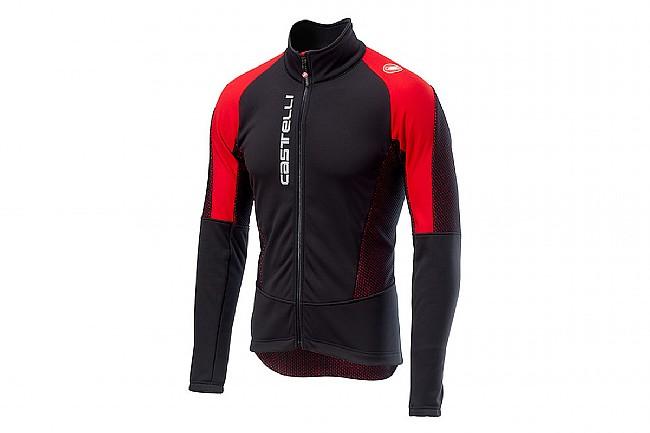 Castelli Mens Mortirolo V Jacket  Black / Red