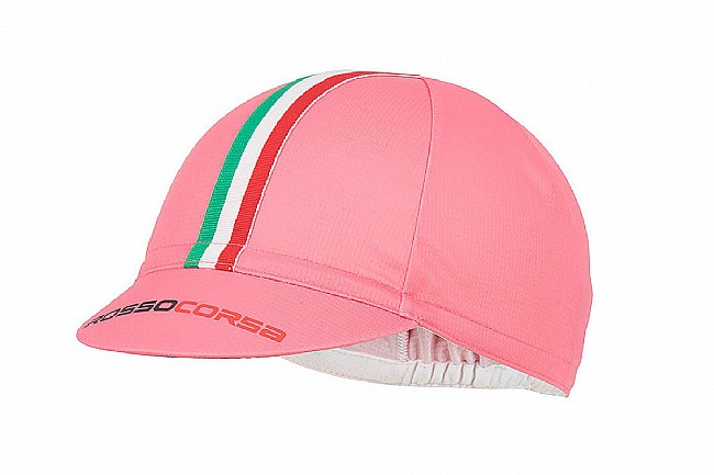 Castelli Rosso Corsa Cycling Cap Giro Pink - One Size
