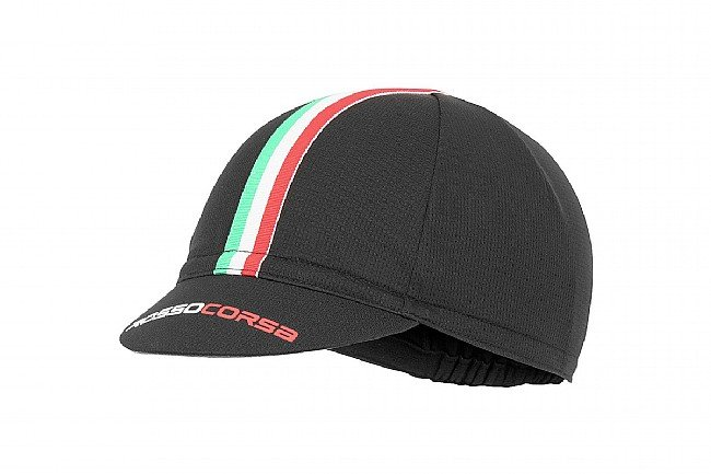 Castelli Rosso Corsa Cycling Cap Black - One Size