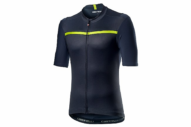 Castelli Mens Unlimited Jersey Dark Steel Blue/Chartreuse