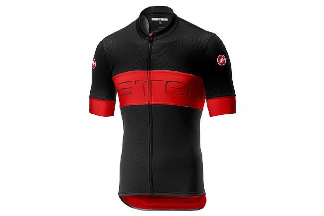 Castelli Mens Prologo VI Jersey Bkack / Red / Black