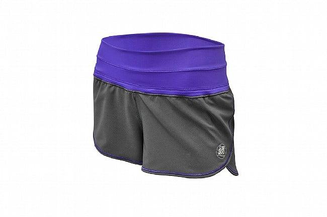 De Soto Womens Run Short Graphite/Purple - Small