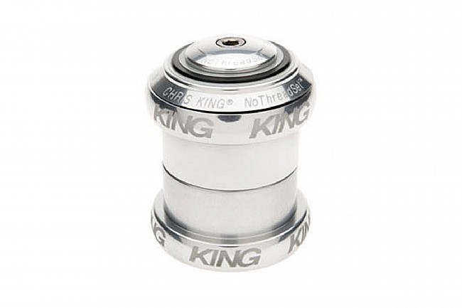 """Chris King NoThreadSet 1 1/8"""" Silver Sotto Voce"""