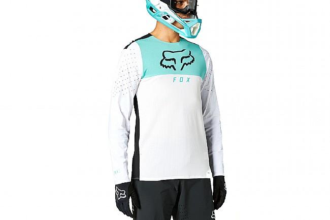 Fox Racing Mens Flexair Delta LS Jersey White