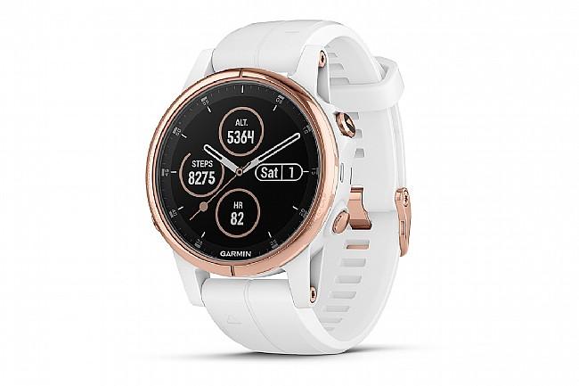 Garmin Fenix 5S Plus Sapphire Rose Gold GPS Watch Rose Gold/White - White Band