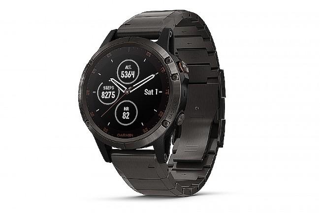 Garmin Fenix 5 Plus Sapphire Full Titanium GPS Watch DLC Titanium - DLC Titanium Band