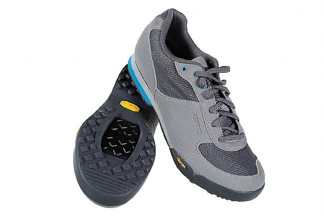 Giro Womens Petra VR MTB Shoe Titanium/Blue Jewel