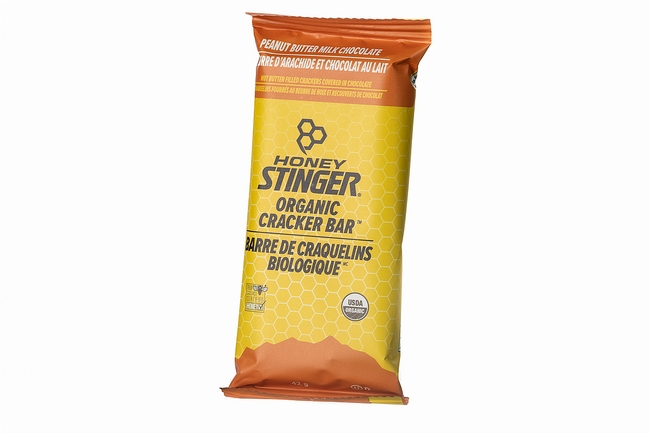 Honey Stinger Organic Cracker Bar (Box of 12) Peanut Butter Milk Chocolate - Canadian Packaging