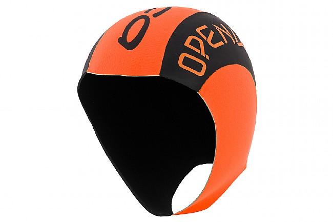 Orca Openwater Hi-Vis Neoprene Swim Cap Black/Orange