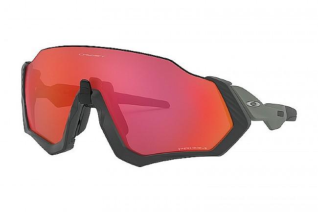 Oakley Flight Jacket Sunglasses Matte Steel - Prizm Trail Torch