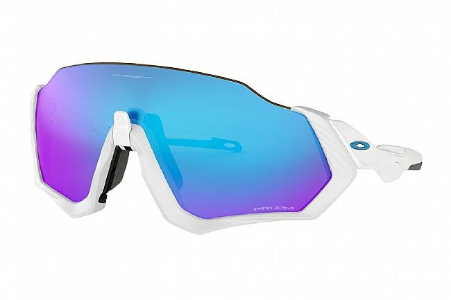Oakley Flight Jacket Sunglasses Polished White/Matte White - Prizm Sapphire Lenses