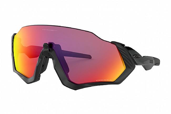 Oakley Flight Jacket Sunglasses Polished Black/Matte Black - Prizm Road Lenses