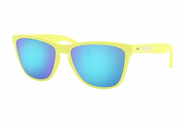 Oakley Frogskins 35th Anniversary Sunglasses Matte Neon Yellow w/ Prizm Sapphire