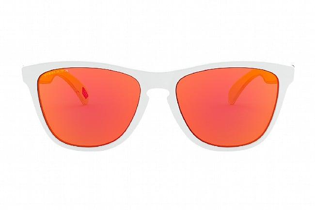 Oakley Origins Frogskins Sunglasses Matte White/Uranium - PRIZM Ruby