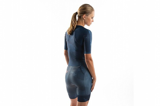 Pearl Izumi Womens Team Octane Suit Navy/Fire Coral Cosmic