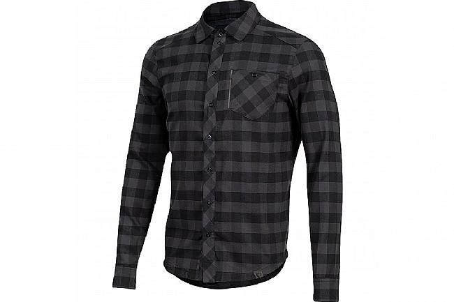 Pearl Izumi Mens Rove LS Shirt Black / Phantom Plaid - Small