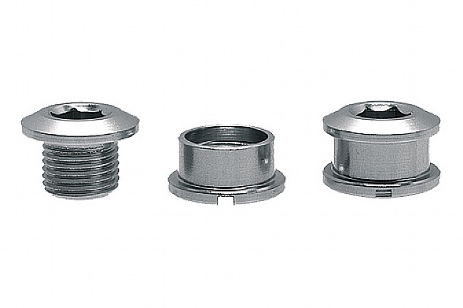 Problem Solvers Single Chainring Bolts Silver - Alloy