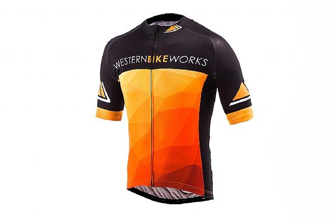 ProCorsa Mens Western Bikeworks Jersey Black Black/Orange -Xtra Small
