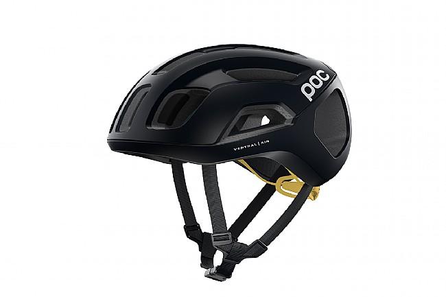 POC Ventral Air SPIN Road Helmet Uranium Black/Sulfur Yellow Matt