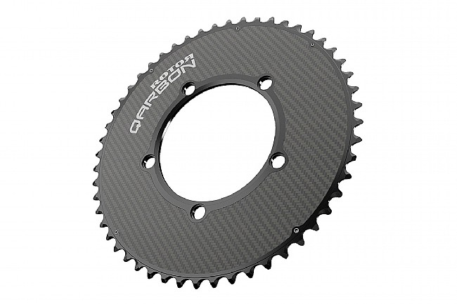 Rotor Qarbon - NoQ Round Carbon Chainrings - 110x5 BCD 53 tooth