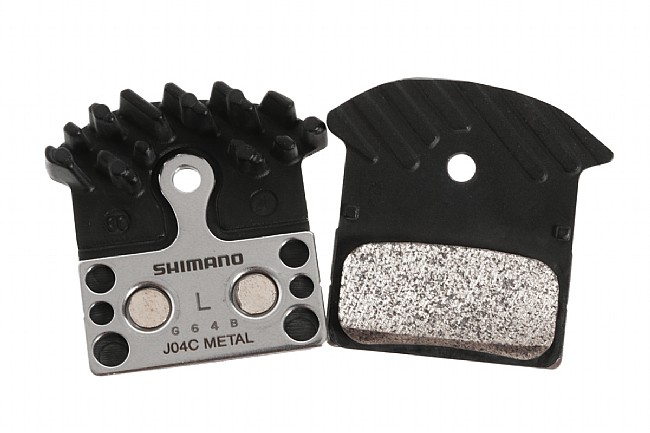 a65e93aa0bc Shimano J04C Metal Disc Pads with Cooling Fins at WesternBikeworks
