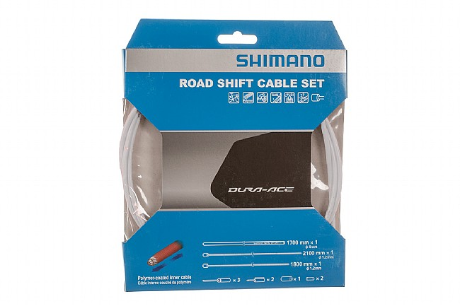 Shimano Polymer Coated Shift Cable Set White