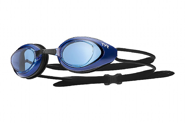 TYR Sport Black Hawk Racing Goggle Blue/Navy/Black