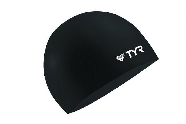 TYR Sport Silicone Swim Cap Black