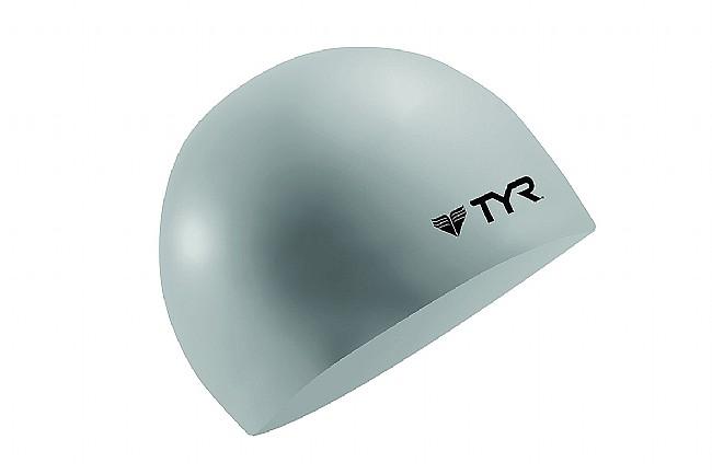 TYR Sport Silicone Swim Cap Silver