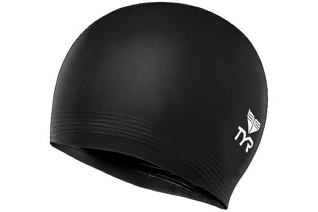 TYR Sport Latex Swim Cap Black