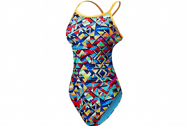 TYR Sport Womens Mosaic Diamondfit Swimsuit Mulit