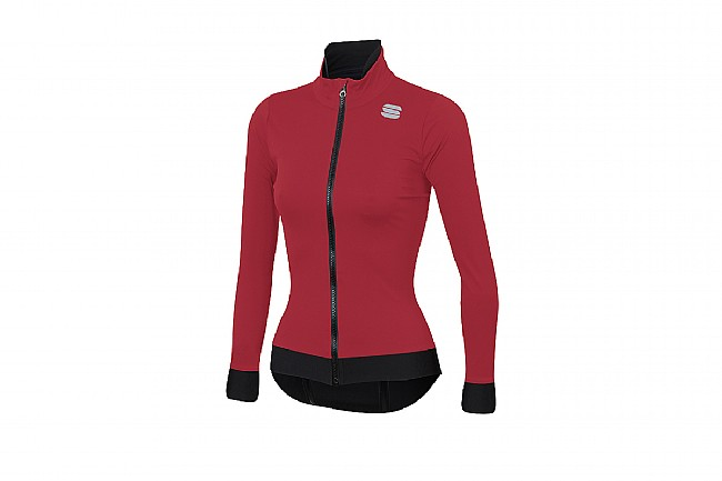 Sportful Womens Fiandre Medium Jacket Red Rumba
