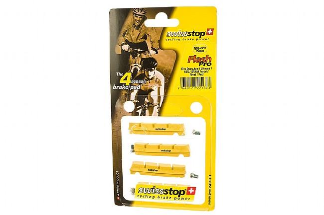 SwissStop FlashPro Shimano Brake Pads - Yellow Carbon SwissStop FlashPro Shimano Brake Pads - Yellow (Carbon)