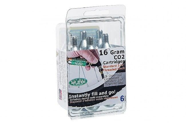 WesternBikeworks 16g Threaded CO2 Cartridge (6-Pack) BikeTiresDirect 16g Threaded CO2 Cartridge (6-Pack)