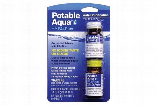 Potable Aqua Water Purification Tablets with PA Plus